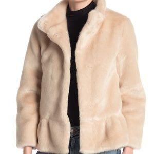 KATE SPADE new york faux fur jacket